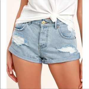 Amuse Society Crossroads Denim Jean Shorts